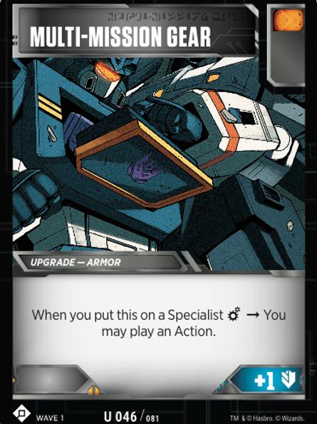 Multi-Mission Gear