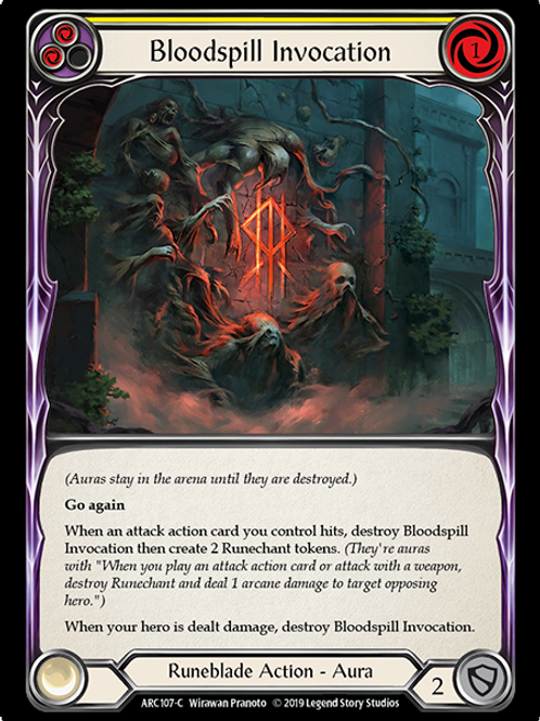 Bloodspill Invocation (Yellow)