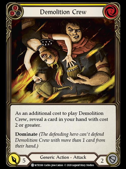 Demolition Crew (Yellow) WTR Unlimited