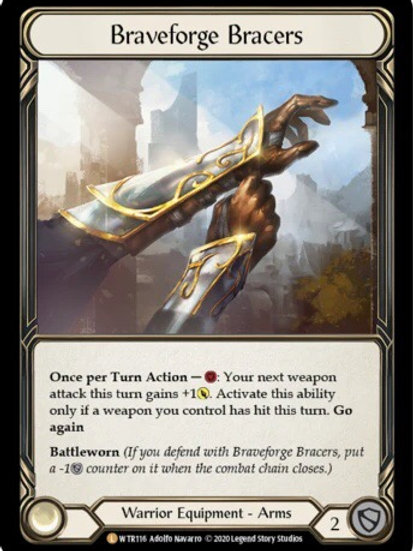 Braveforge Bracers (Rainbow Foil) WTR Unlimited