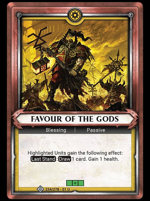 Favour of the Gods