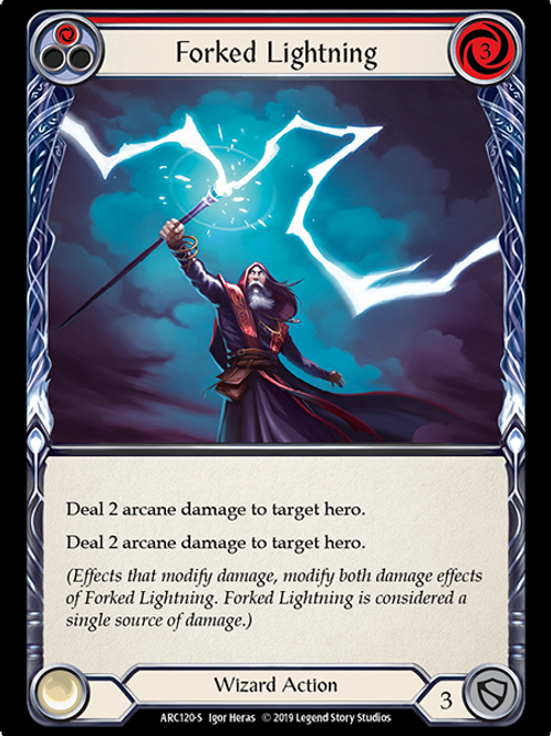 Forked Lightning (Rainbow Foil) Arcane Rising Unlimited