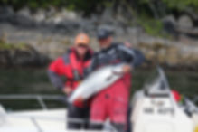 Legacy Lodge coho salmon with guide