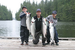 Legacy Lodge owner with his sons