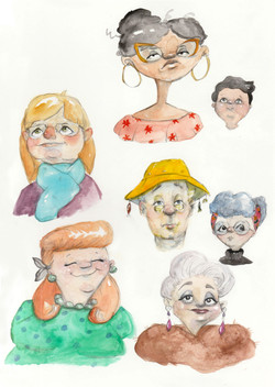 Sketches of people I meet
