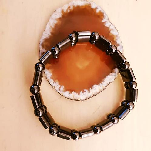 Men's Women's-Unisex Health Black Magnetic Bracelet