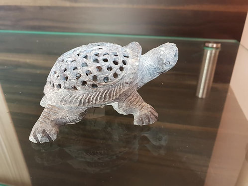 Handmade Marble Tortoise with jali/Lattice design and Baby-Tortoise Inside