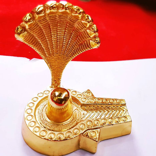 Small Shivalinga with Nagam / Golden color
