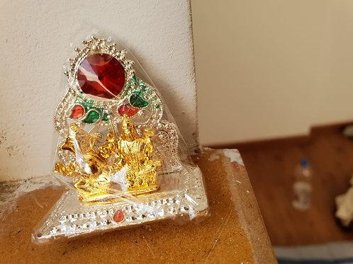 Mini Silver Gold Lord Ganesha & Maa Lakshmi