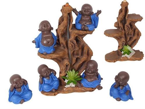 10CM BUDDHA WITH BLUE ROBE