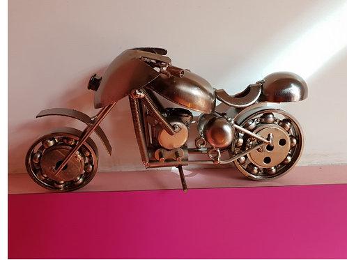 Metal Vintage Motor Bike Miniature