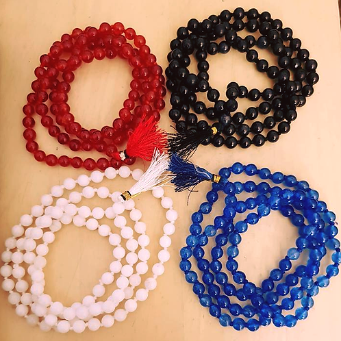 Genuine Natural Agate/Hakik Stone Beads Healing Mala/Necklace !📿