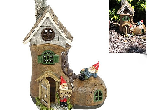 GNOME BOOT FAIRY HOUSE
