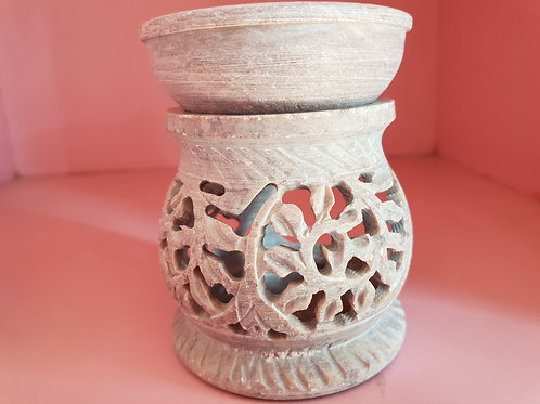 Handmade Marble Essential Oil Diffuser/ Oil Burner with Jali/Lattice work
