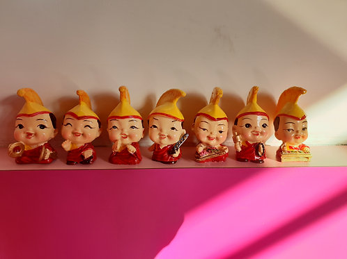 Cute Tibetan Monk/Buddha miniature Set