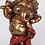 Thumbnail: 16cm Dancing Red And Bronze Ganesh