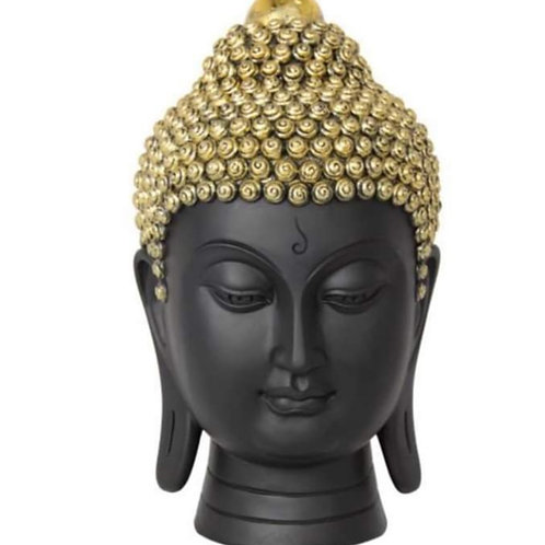 Free shipping exquisite Black & Gold Rulai Buddha Head