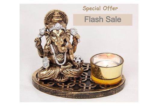 15Cm Ganesh Tealight Holder