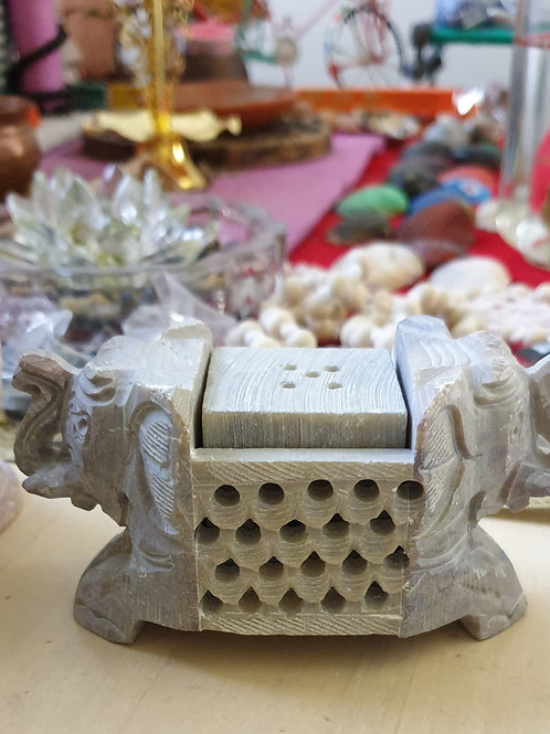 Marble Elephant Candle / Incense Holders