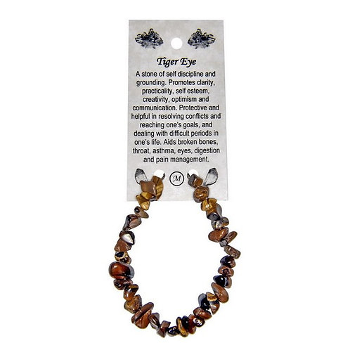 📿Tiger Eye Bracelet with Silver Coloured Metal Clasps
