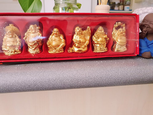 6 set of Feng Shui Laughing Buddha