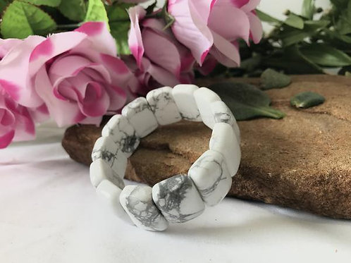 Genunine Howlite stone bracelet!