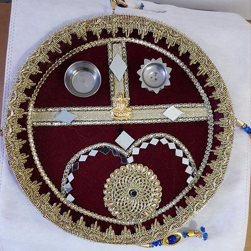 Beautiful Multicolor Handcrafted Pooja Thali!