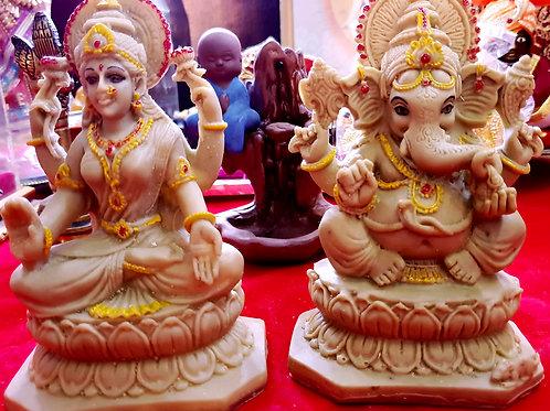 Lakshmi Ganesh Idols! Made of Cow's Gober and Urine.