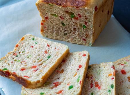 Tutti Frutti Eggless Loaf