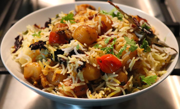 Baby Potato dum Biryani - Totally Vegan