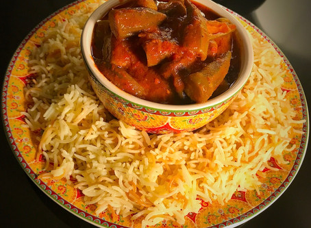 Bamiya with Vermicelli Rice