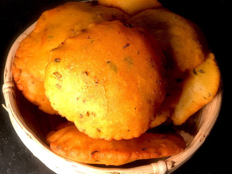 Makkai Masala Poori (cornmeal)