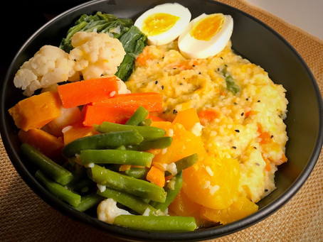 Phena Bhaat or Congee with veggies