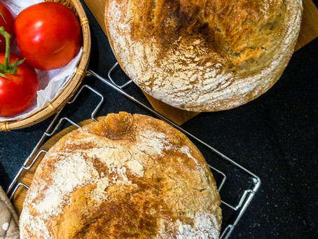 'No Knead' Country Style Loaf or pain de campagne