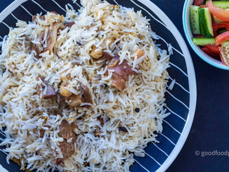 Sofiyani or White Mutton Dum Biryani