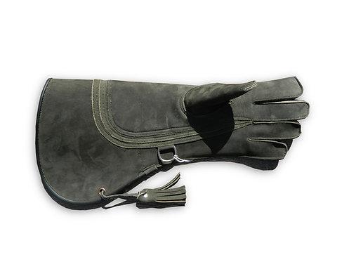Long Quadruple Layer Nubuck Leather Falconry Glove