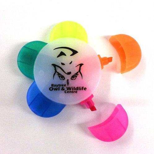 BOWC Five-colour Highlighter