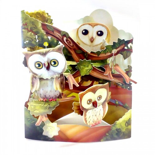 Swing Cards 3D Gift Card - Owls