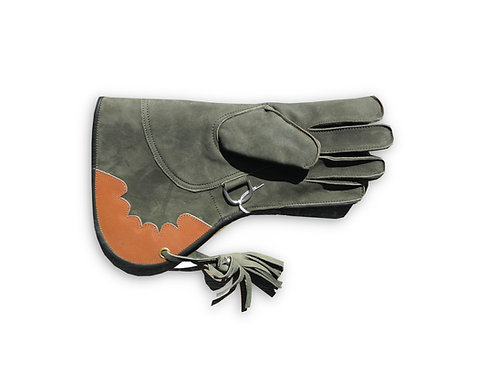 Double Layer Nubuck Leather Falconry Glove