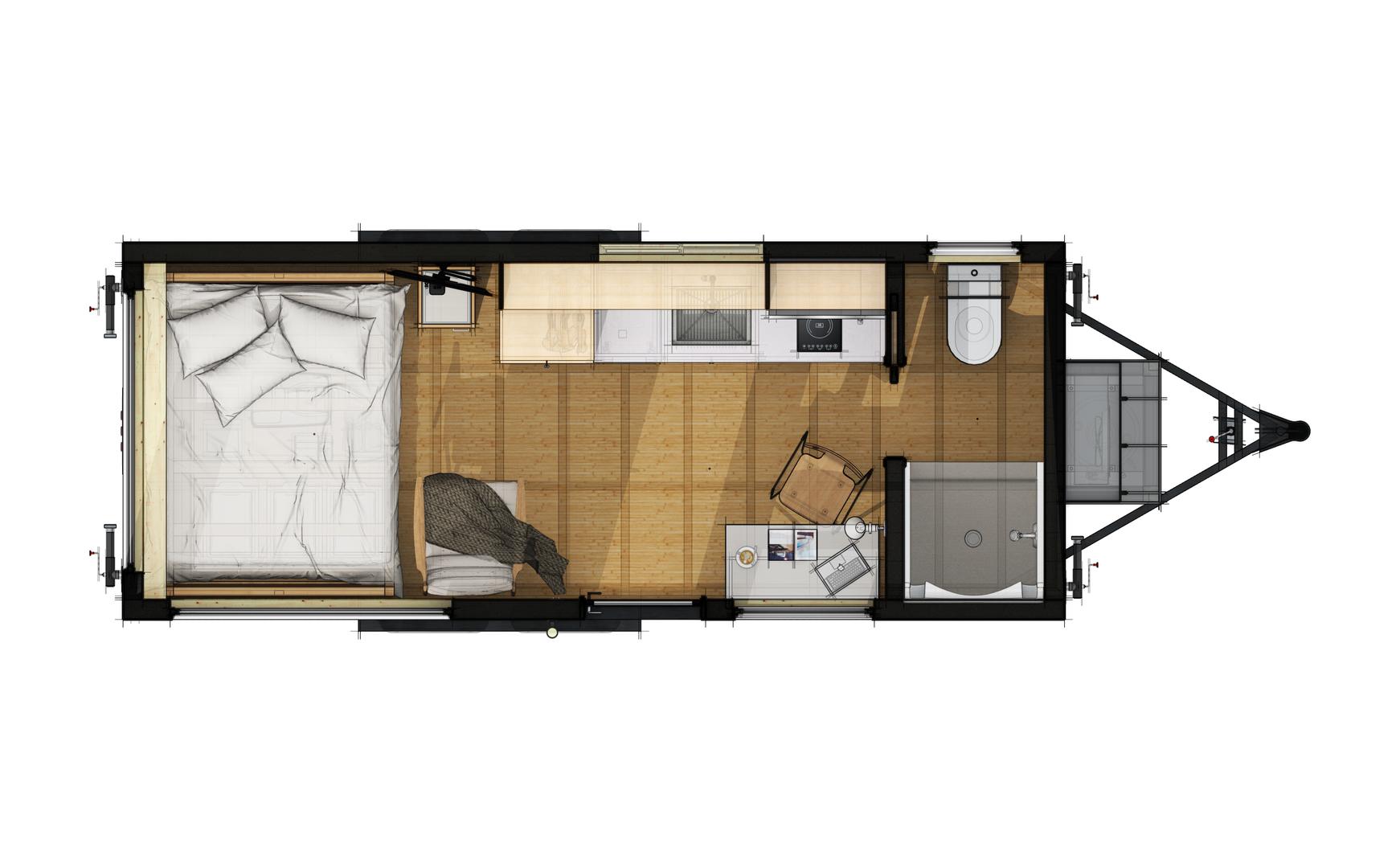 Studio 20 Layout Ideas: Queen Bed