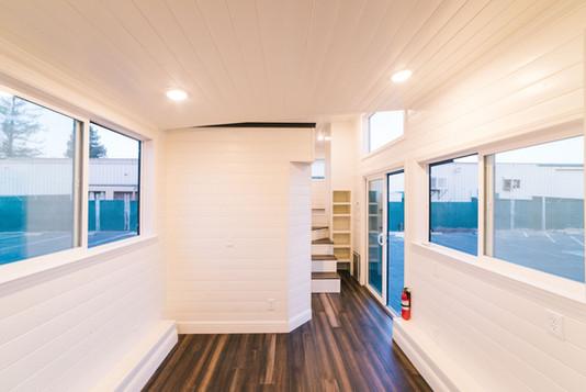 10'x 30' tiny house living room