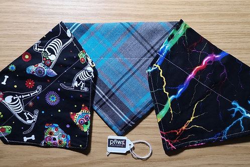 Doggie Comforts Patterned Bandanas - Medium