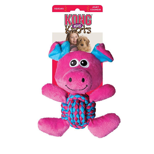 Kong Weave Knots Pig - Medium