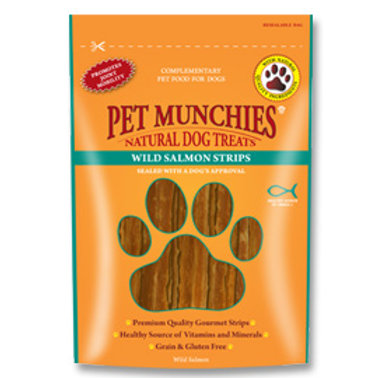 Pet Munchies 100% Natural Treats - Wild Salmon Strips