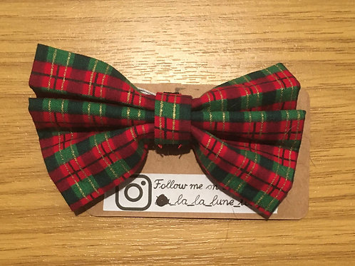 Red and Green Christmas Bowtie