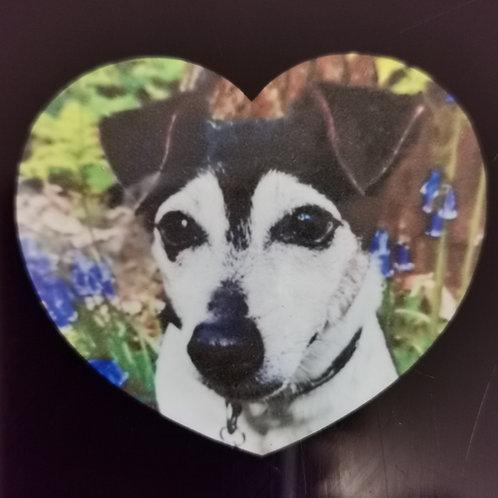 Personalised  Heart Fridge Magnet