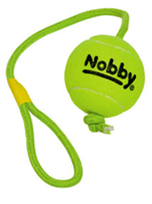 Nobby Tennis Ball on rope