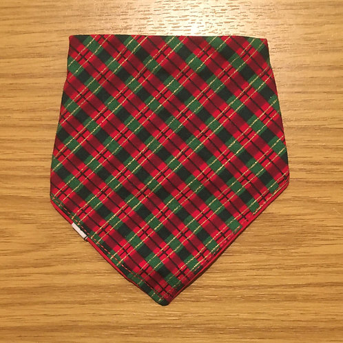 Red and Green Christmas Bandana - One Size