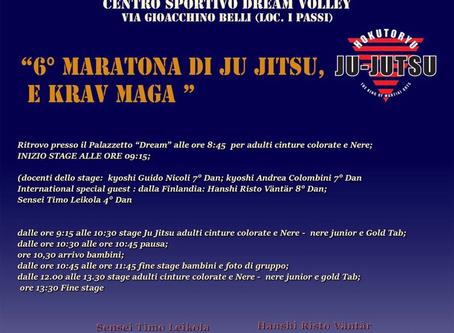 """""""6° MARATONA DI JU JITSU E KRAV MAGA"""""""