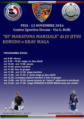III° Maratona Marziale di Ju JItsu, Kobudo e Krav Maga